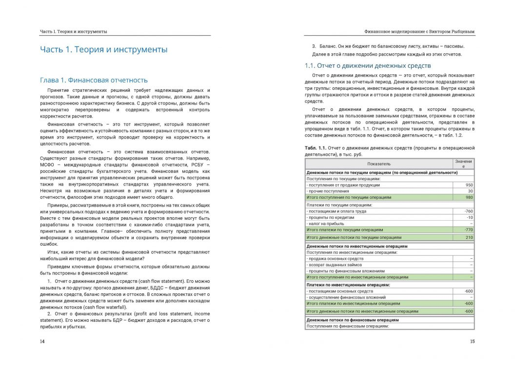 Финансовое моделирование с Виктором Рыбцевым. Онлайн-фрагмент книги. Страницы 14-15